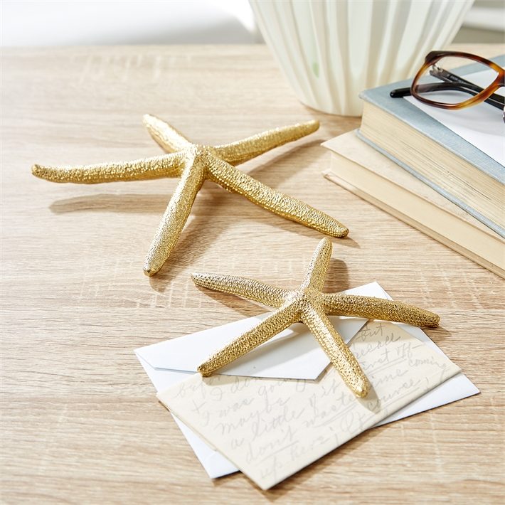 Gold Starfish Wall Decor : Set of captiva starfish seasonsgiftsandhome
