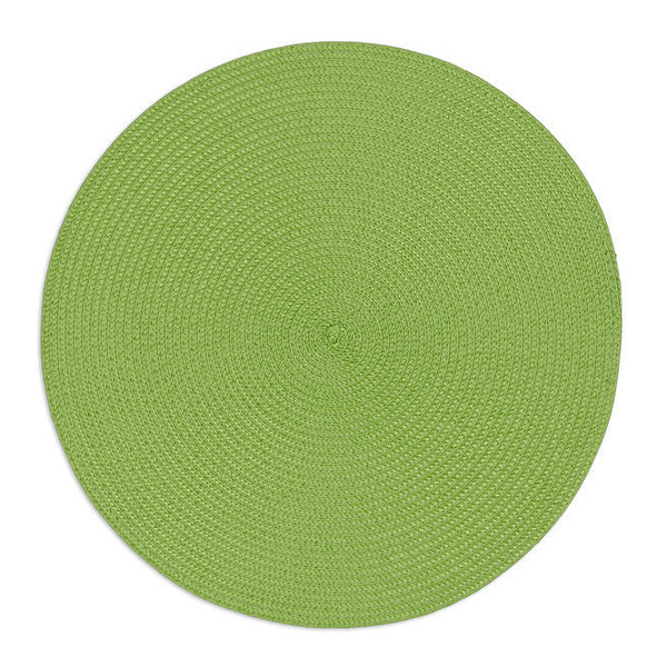 Round Woven Placemats Bright Green Set 4