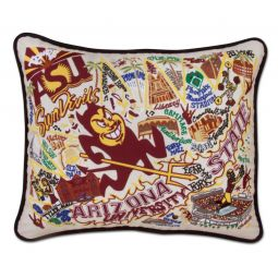 State of Virginia Embroidered Pillow - Virginia Souvenir Catstudio