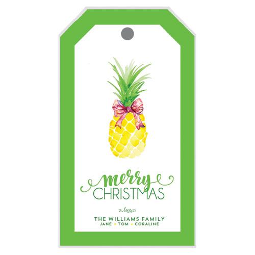Christmas Pineapple.Christmas Pineapple Gift Tags