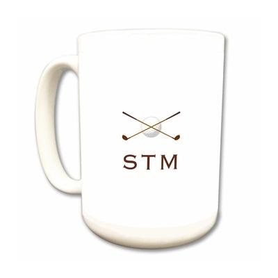 golf clubs monogram mug
