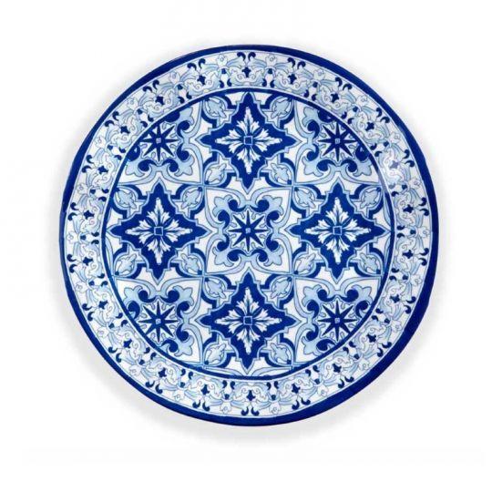 talavera melamine dinner plates set 4